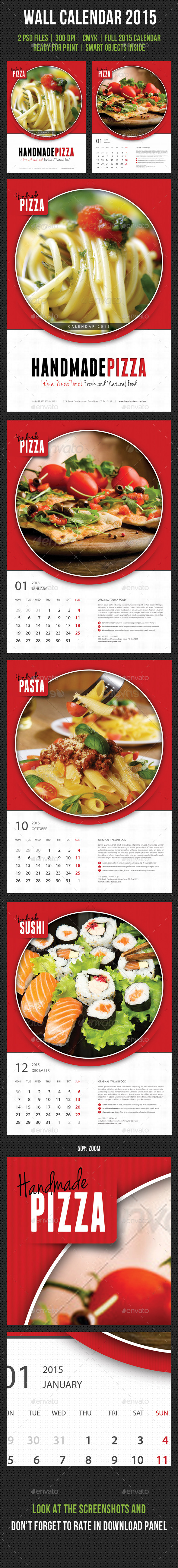 GraphicRiver Cook And Food Wall Calendar 2015 9639057