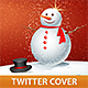 Christmas Snowman Twitter Cover - GraphicRiver Item for Sale