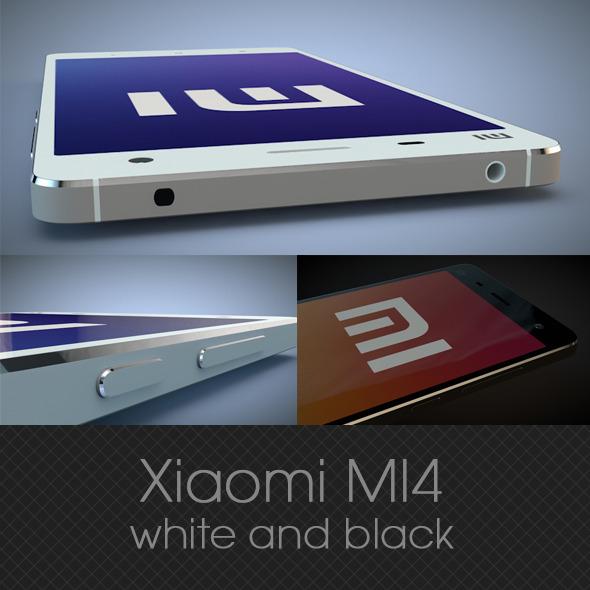 3DOcean Xiaomi MI4 white and black 3D model 9639229