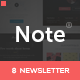 Note - 8 Responsive Email Templates + Online Editor - ThemeForest Item for Sale