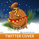 Christmas Bag Twitter Profile Cover - GraphicRiver Item for Sale