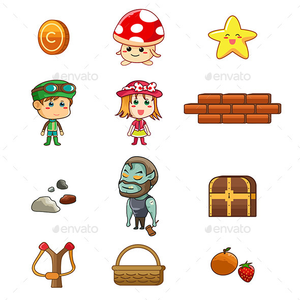 GraphicRiver Character and Game Elements 9639617