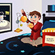 Boy making a Solar System Science Project - GraphicRiver Item for Sale