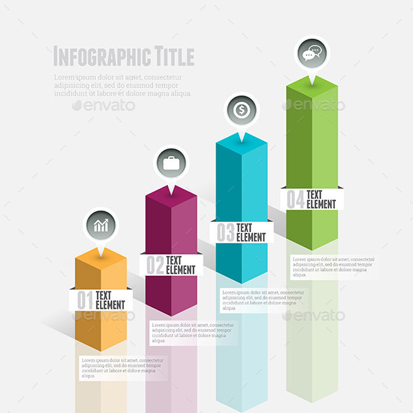 GraphicRiver 3D Graphic Bar Infographic 9639632