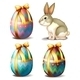 Colorful Eggs and Bunny - GraphicRiver Item for Sale