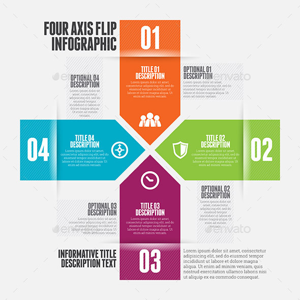 GraphicRiver Four Axis Flip Infographic 9639664