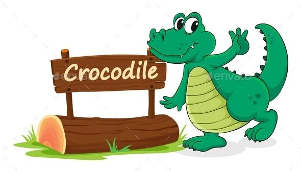 GraphicRiver Crocodile and Name Plate 9639665
