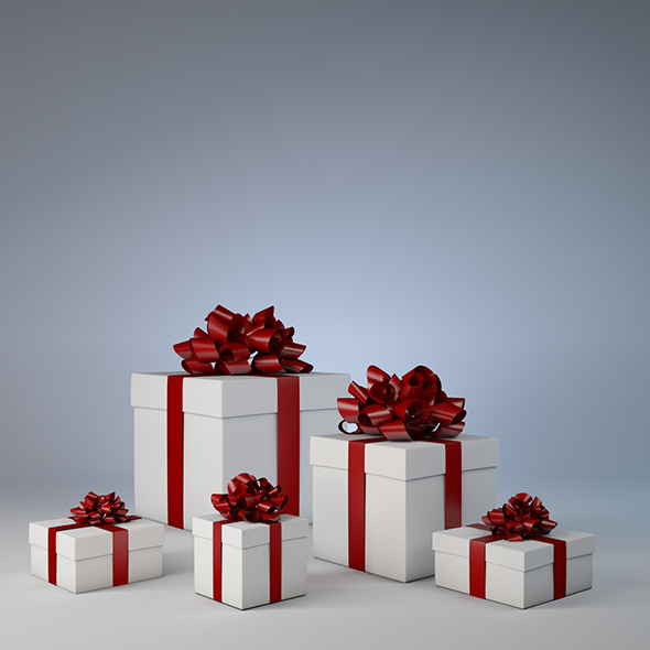 3DOcean Christmas gift box 9639666