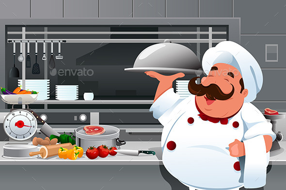 GraphicRiver Chef in the Kitchen 9639670