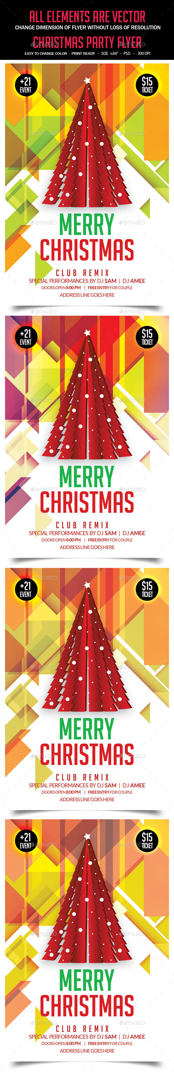 GraphicRiver Christmas Flyer 9639673