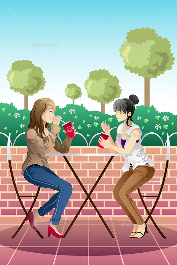 GraphicRiver Girls Hanging out Together 9639683