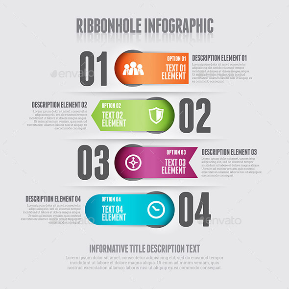 GraphicRiver Ribbonhole Infographic 9639694