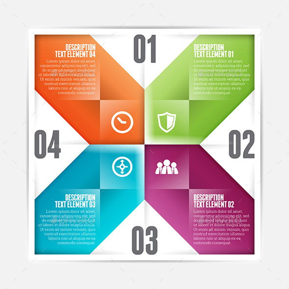 GraphicRiver Square Flipped Infographic 9639720