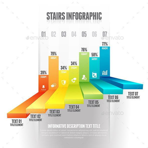 GraphicRiver Stairs Infographic 9639724