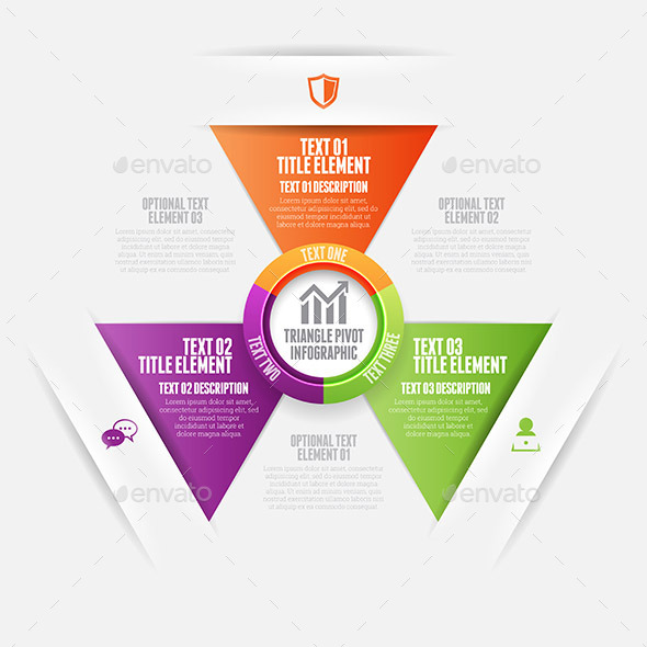 GraphicRiver Triangle Pivot Infographic 9639729