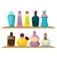 Wooden Shelves with Different Perfumes - GraphicRiver Item for Sale