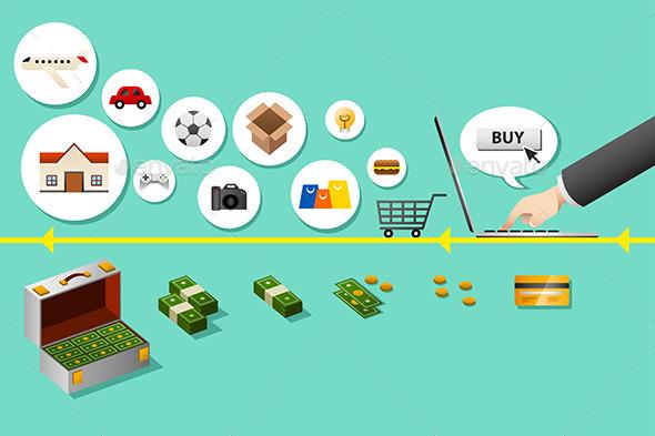 GraphicRiver Internet Shopping Concept 9639746