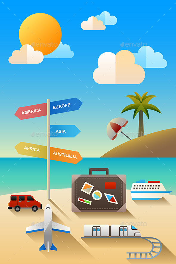 GraphicRiver Travel Concept 9639748