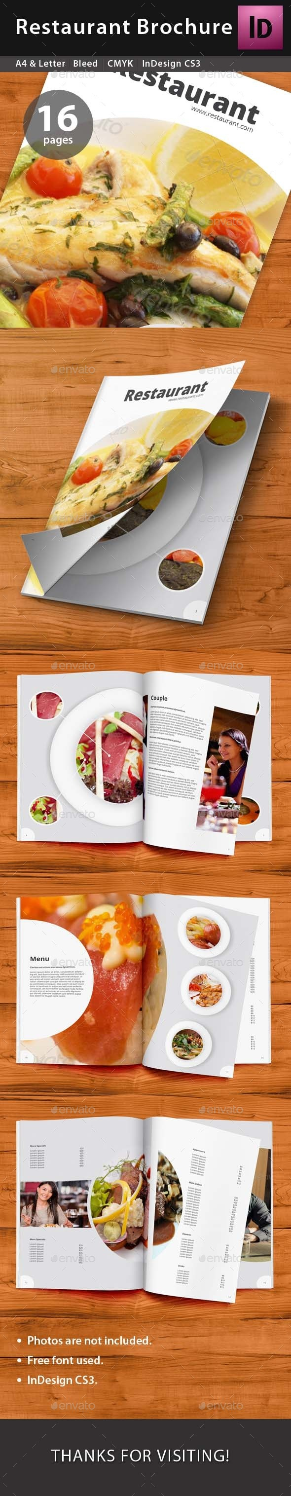GraphicRiver Restaurant Brochure 9639752