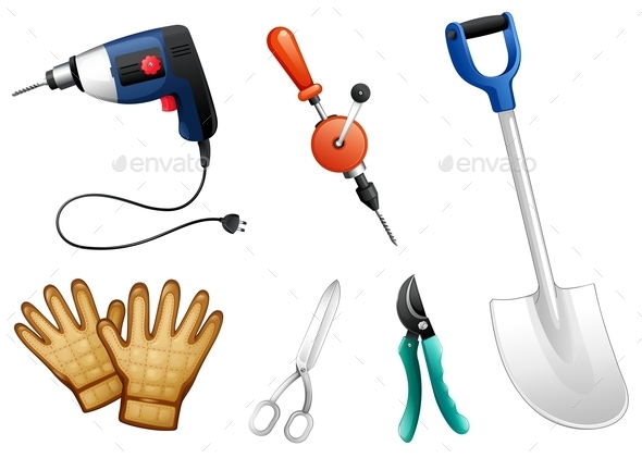 GraphicRiver Six Different Kinds of Construction Tools 9639775