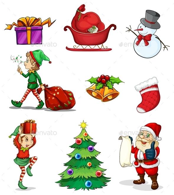 GraphicRiver Christmas Signs 9639896