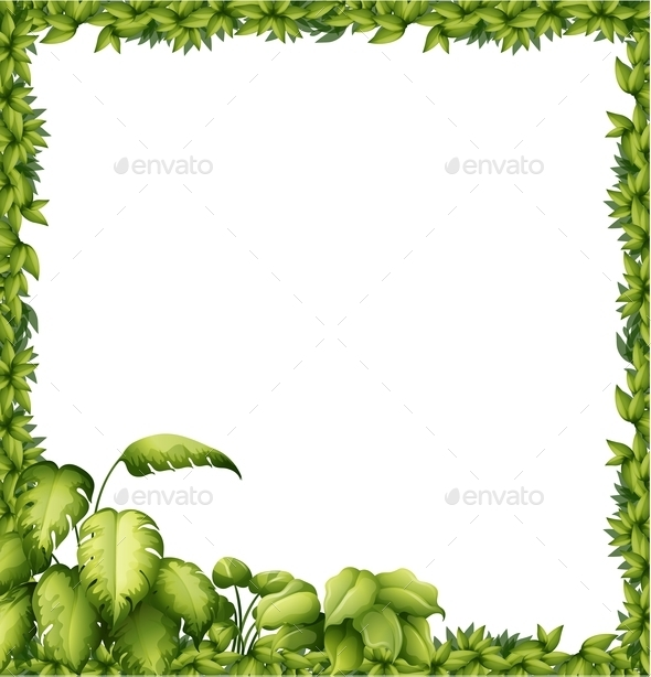 GraphicRiver Leaves Frame 9640100