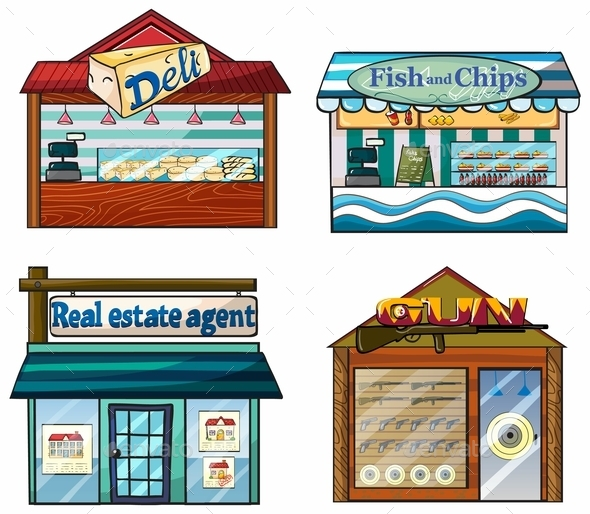GraphicRiver Shops Set 9640230