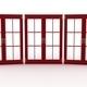 3d illustration of closed plastic windows on white background - PhotoDune Item for Sale