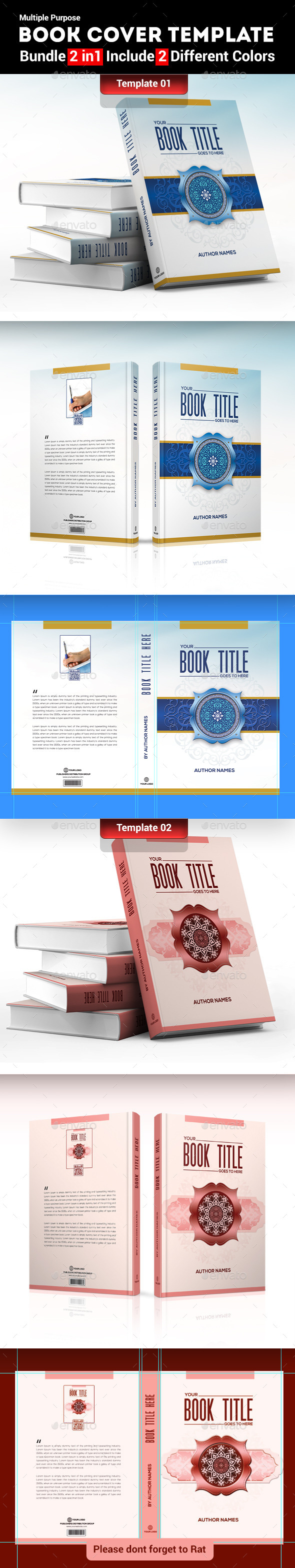GraphicRiver Book Cover Template Bundle 2 in 1 9640329