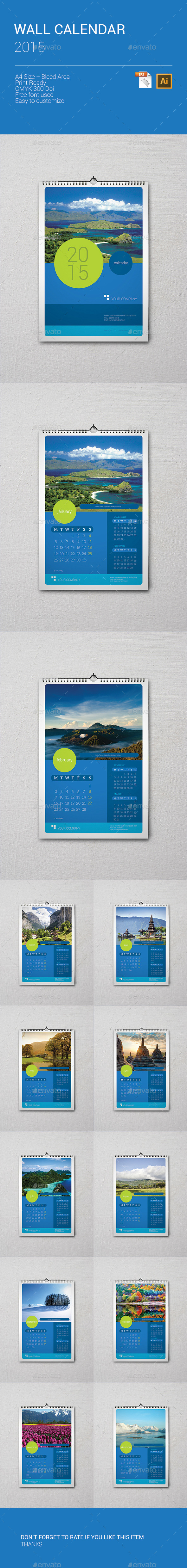 GraphicRiver Wall Calendar 2015 9640512