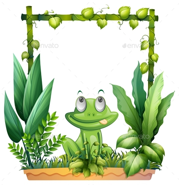 GraphicRiver Thinking Frog with Background 9640776