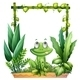 Thinking Frog with Background - GraphicRiver Item for Sale