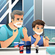 Father and Son Shaving - GraphicRiver Item for Sale