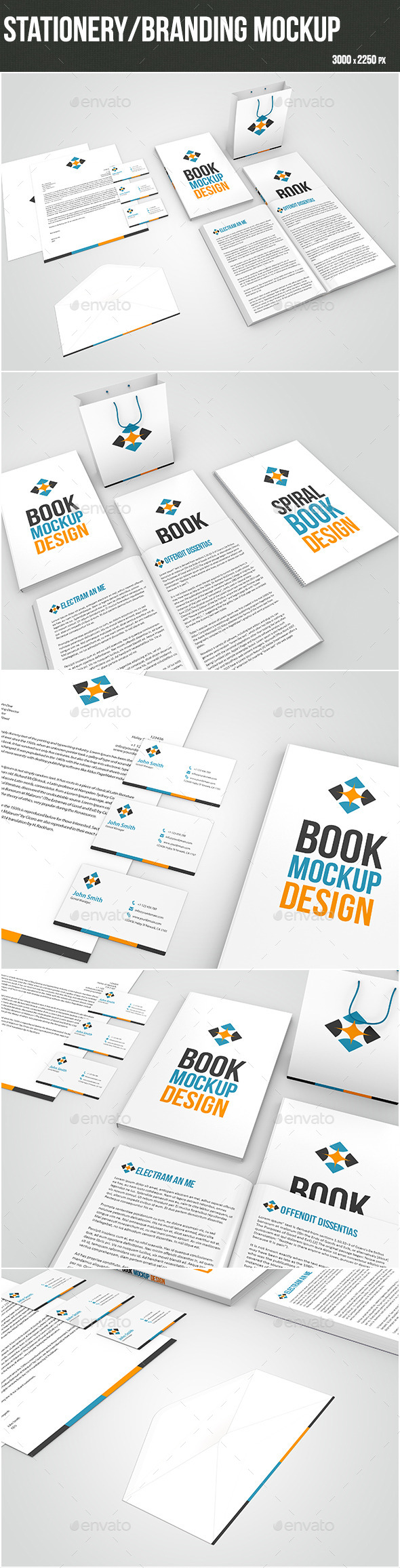 GraphicRiver Stationery Branding Mock-up 9640969