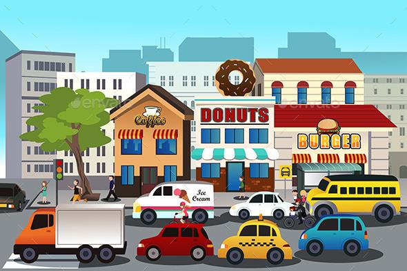GraphicRiver Busy City 9641010