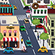 Busy City in the Morning - GraphicRiver Item for Sale