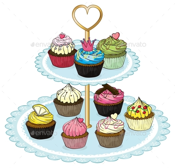 GraphicRiver Cupcake Tray 9641094