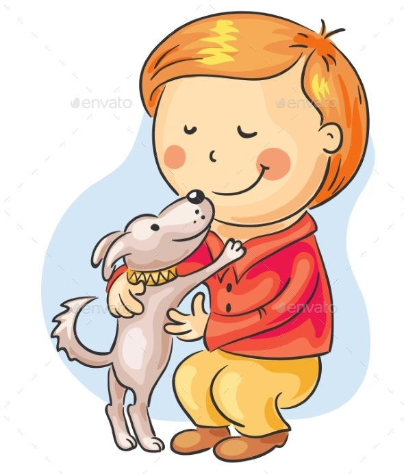 GraphicRiver Boy with his Pet 9641135