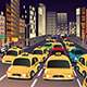 Busy City in the Evening - GraphicRiver Item for Sale