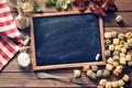 chalkboard and italian food ingredients - PhotoDune Item for Sale