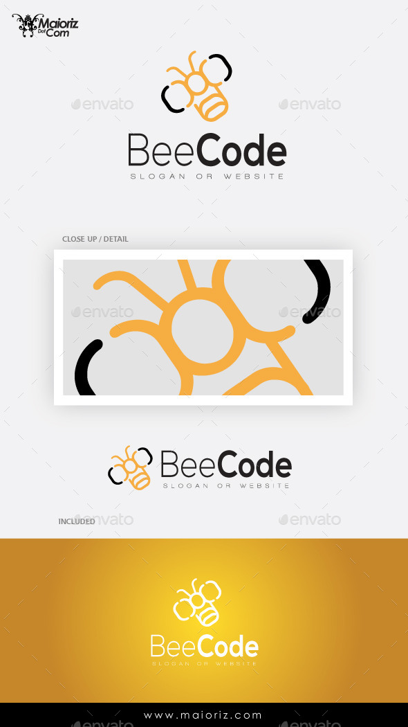 GraphicRiver Bee Code Logo Template 9641213
