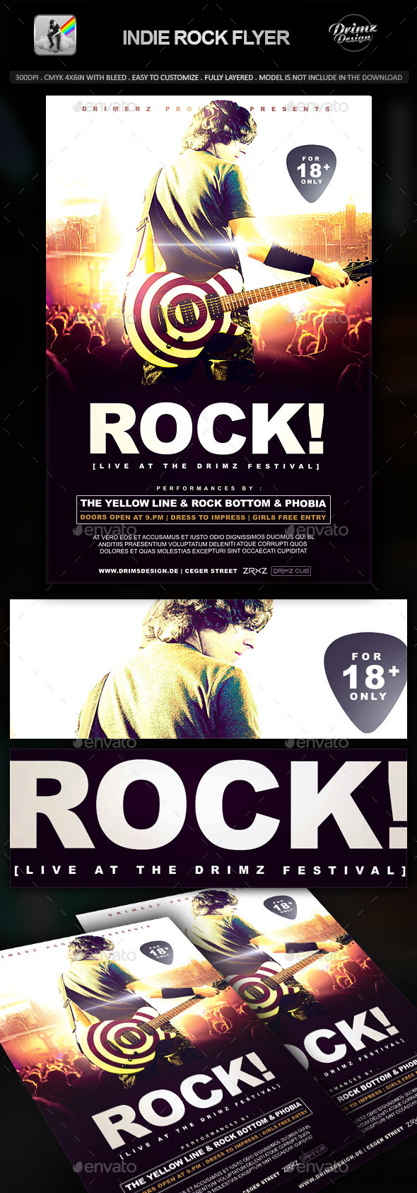 GraphicRiver Indie Rock Flyer 9641224
