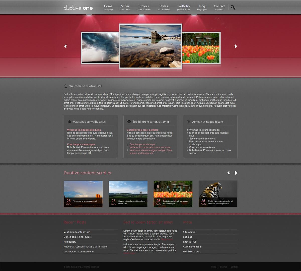 Duotive ONE General Purpose Wordpress Theme