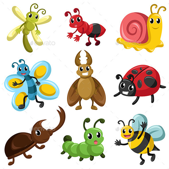 GraphicRiver Bug Icons 9641234