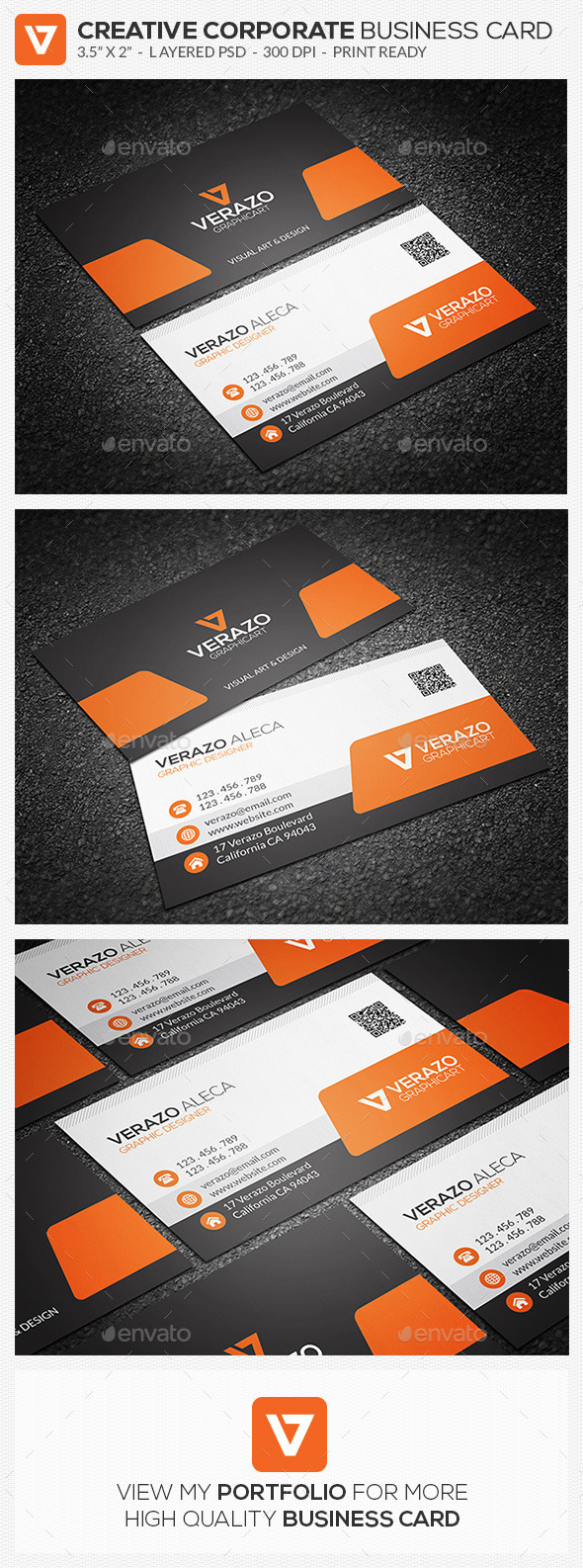 GraphicRiver Creative Corporate Business Card 65 9641492