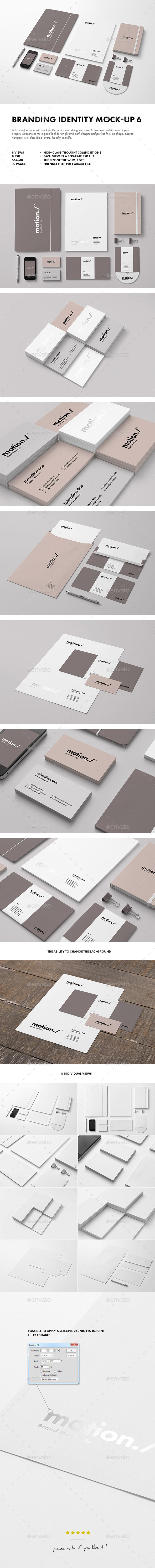 Branding / Identity Mock-up 6 (Stationery)