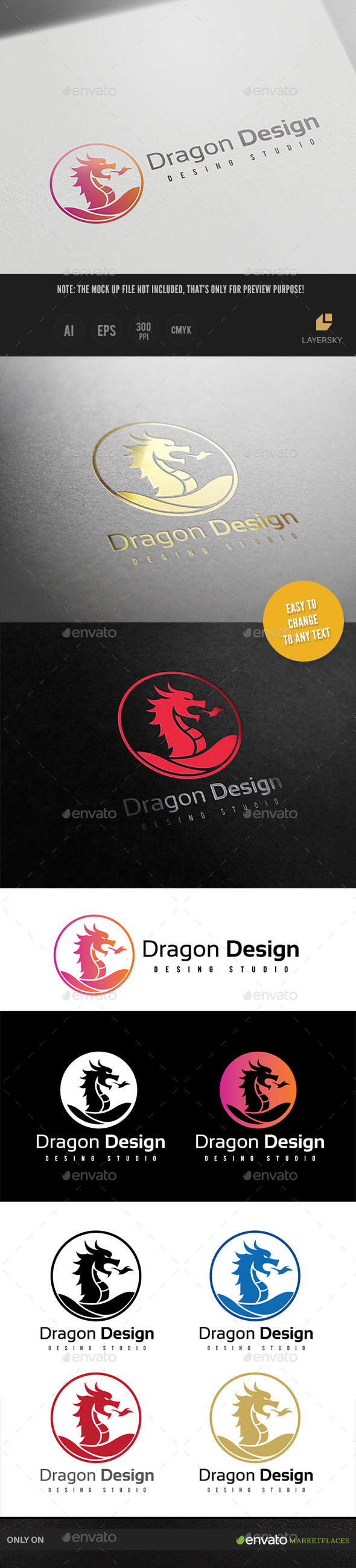 GraphicRiver Dragon Design 9641863