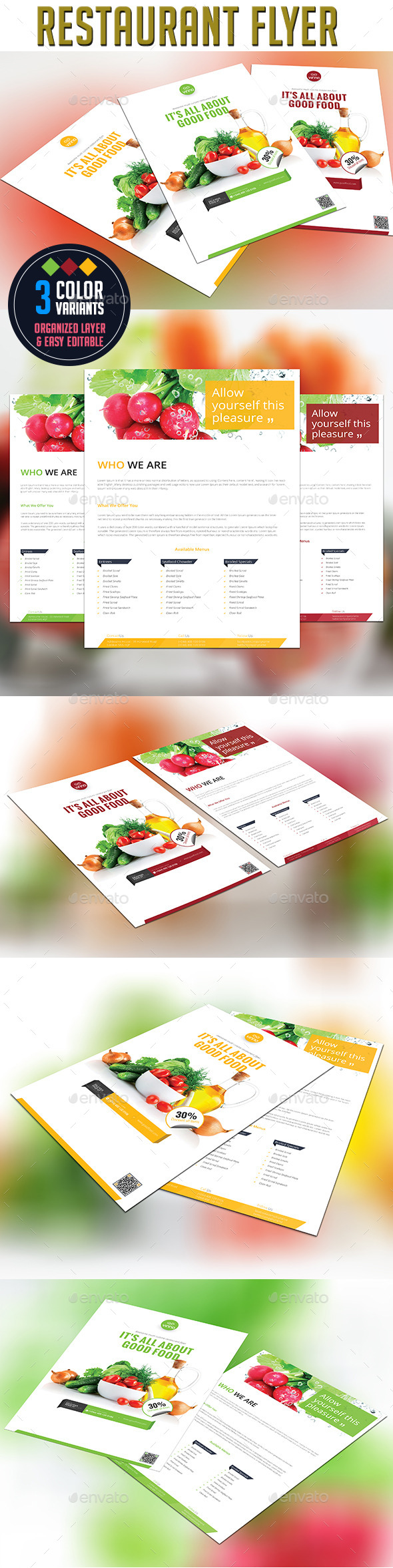GraphicRiver Restaurant Flyer 9596946