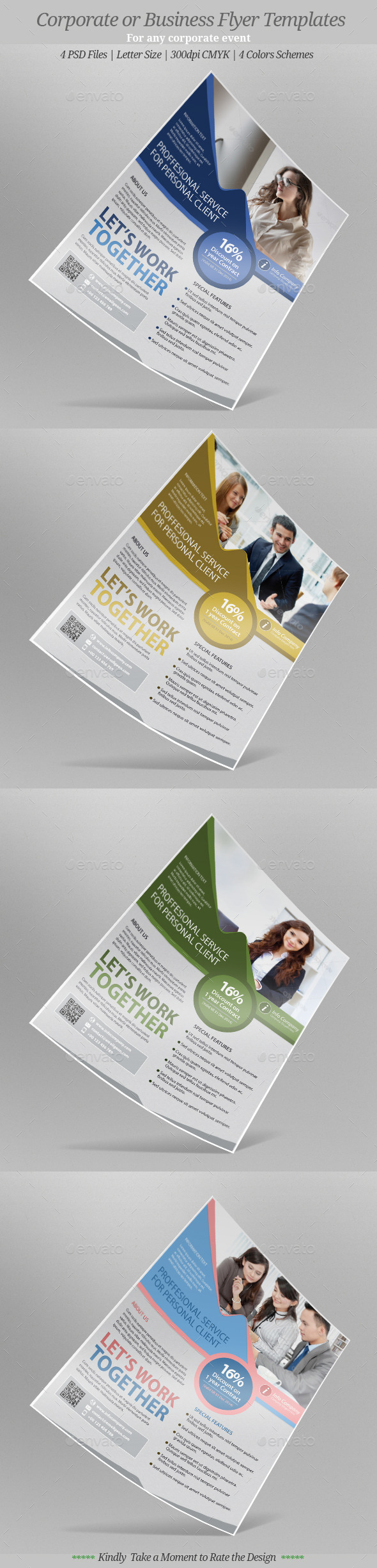 GraphicRiver Corporate or Business Flyer Templates 9641934