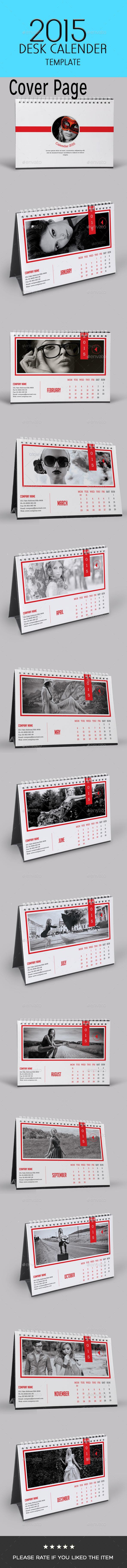 GraphicRiver Multipurpose Fashion Desk Calendar 9641961
